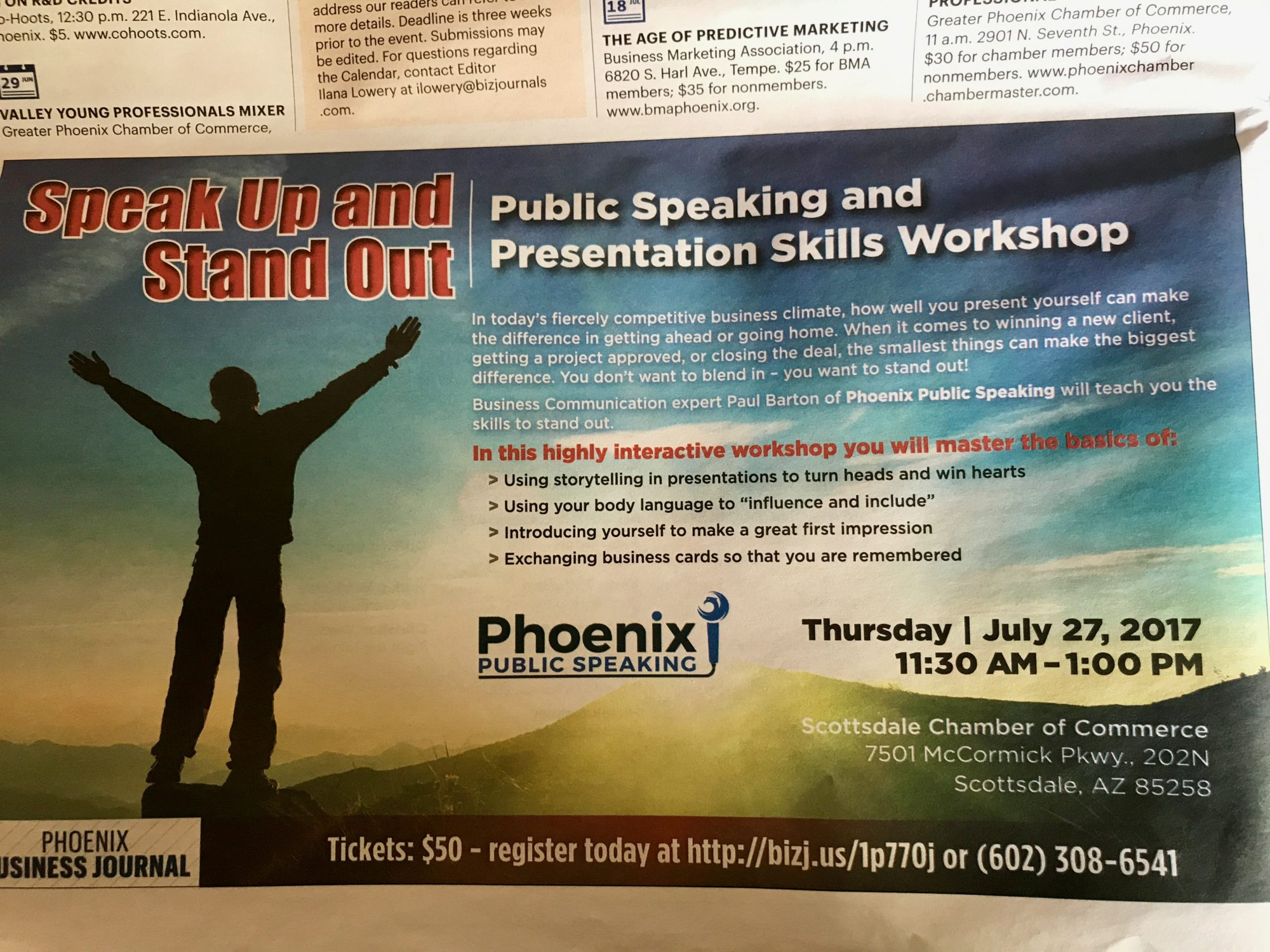 phoenix public speaking workshop