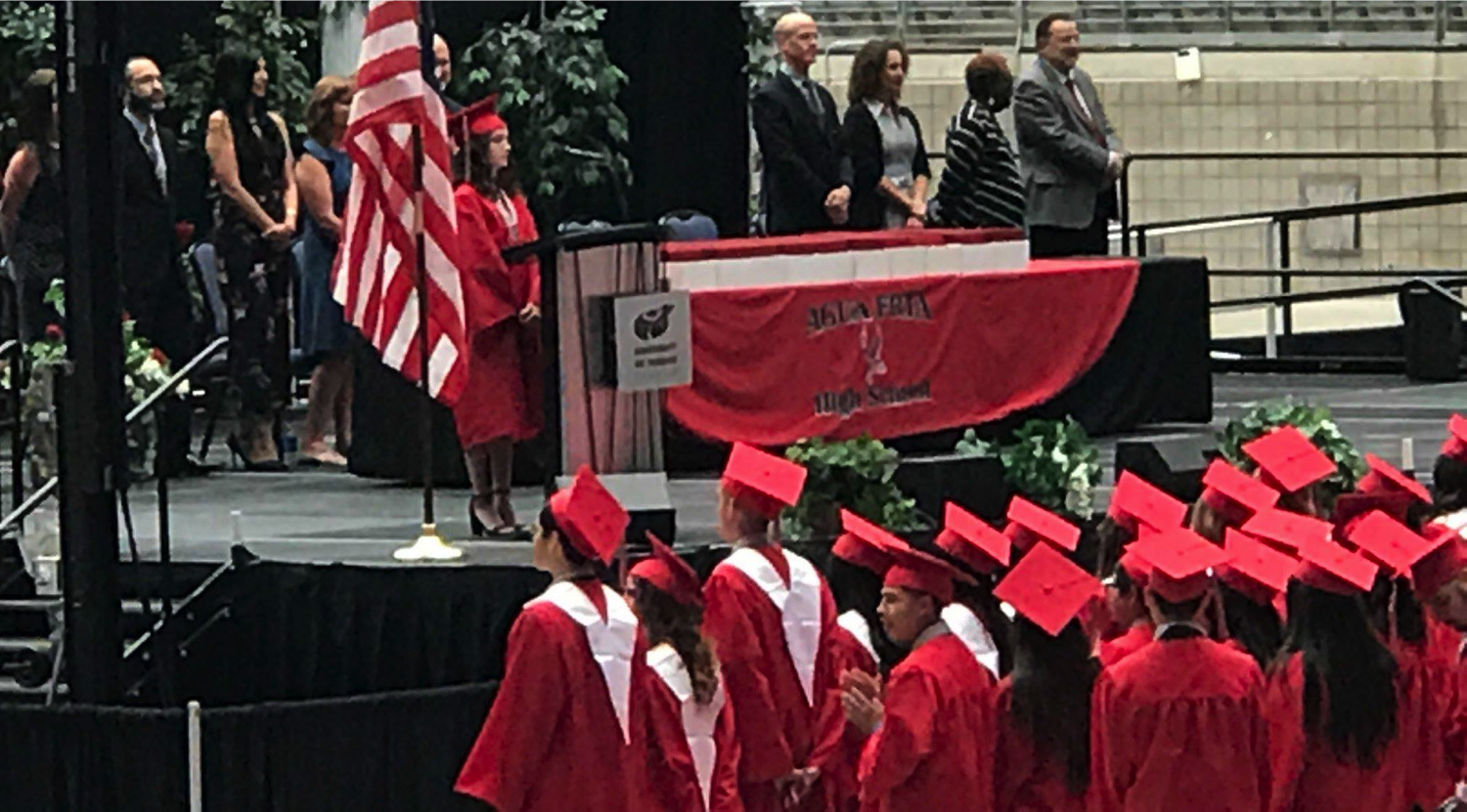 Agua Fria Graduation. Kaitlyn Barton speaking at Agua Fria High School class of 2018 graduation.