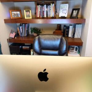 Bookshelf background for Zoom